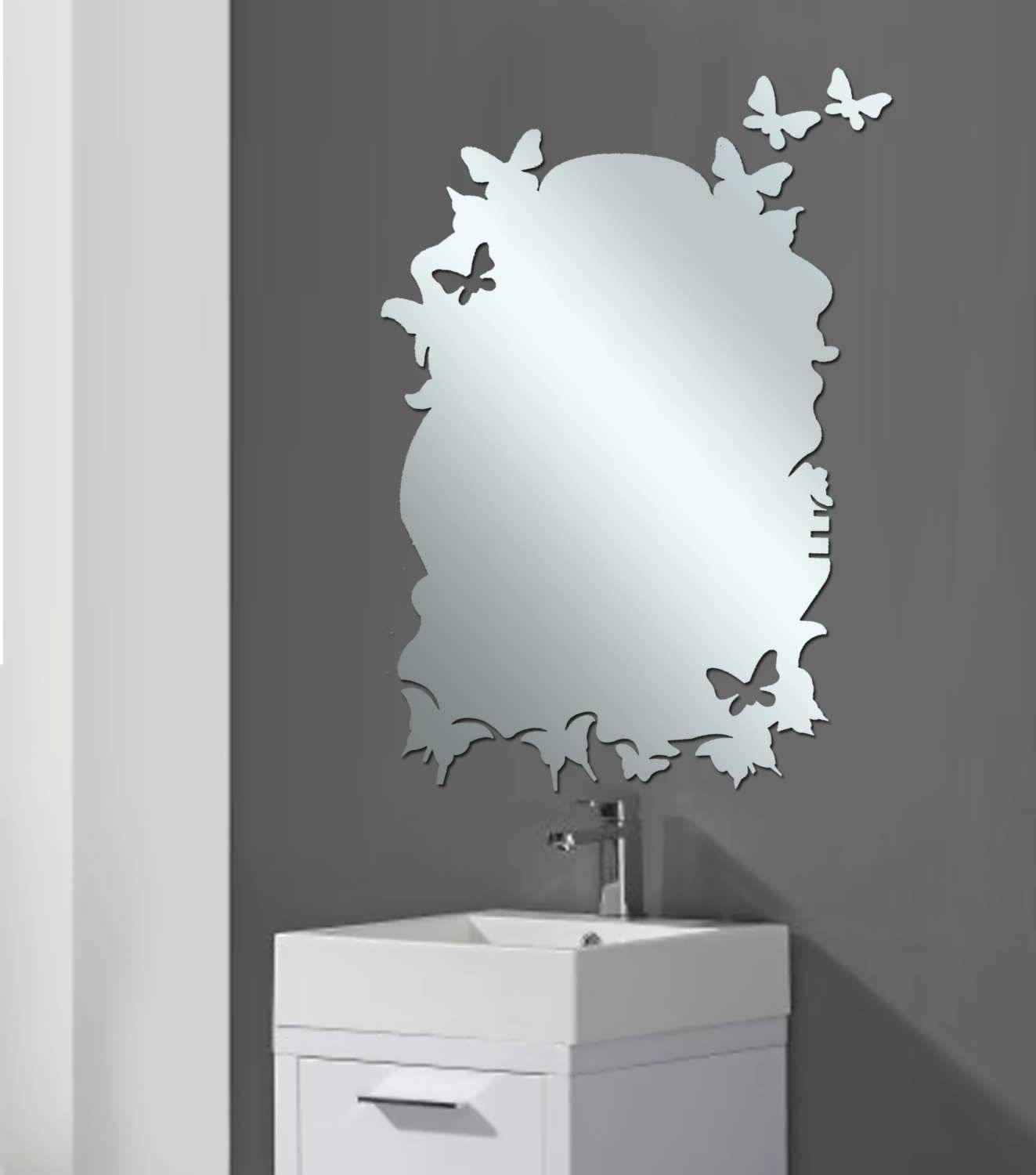 Bathroom : Funky Mirrors For Bathrooms Bathroom Mirror Size Inside Unusual  Mirrors For Bathrooms (Photo