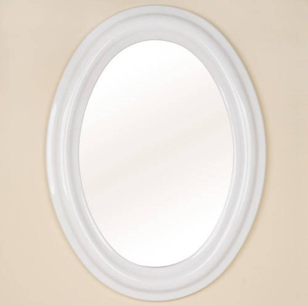 Bathroom: Hiltonia Oval Bathroom Wall Bevel Mirror - Oval Bathroom with White Oval Bathroom Mirrors (Image 14 of 25)