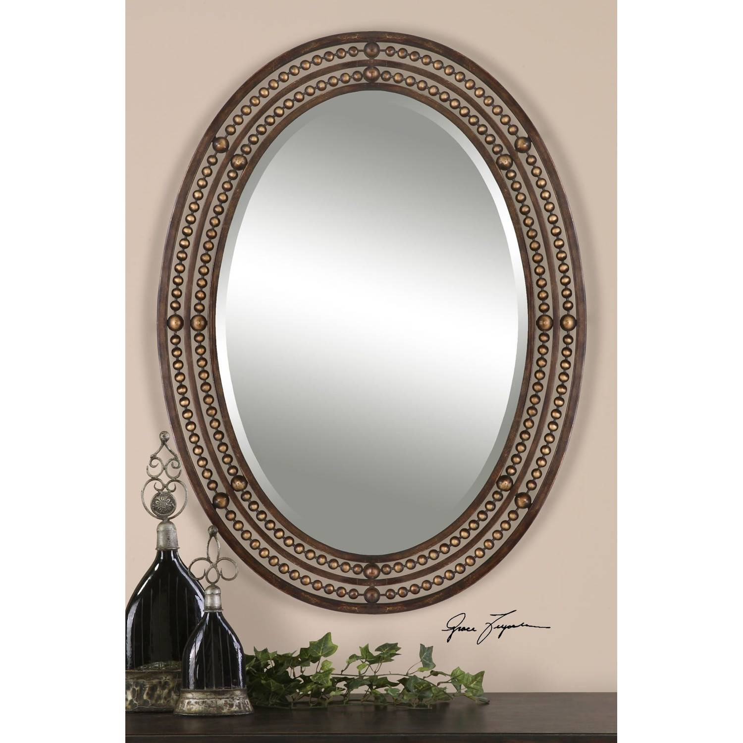Bathroom Ideas: Great Oval Bathroom Mirrors For The Bathroom with regard to Oval Mirrors for Walls (Image 3 of 25)