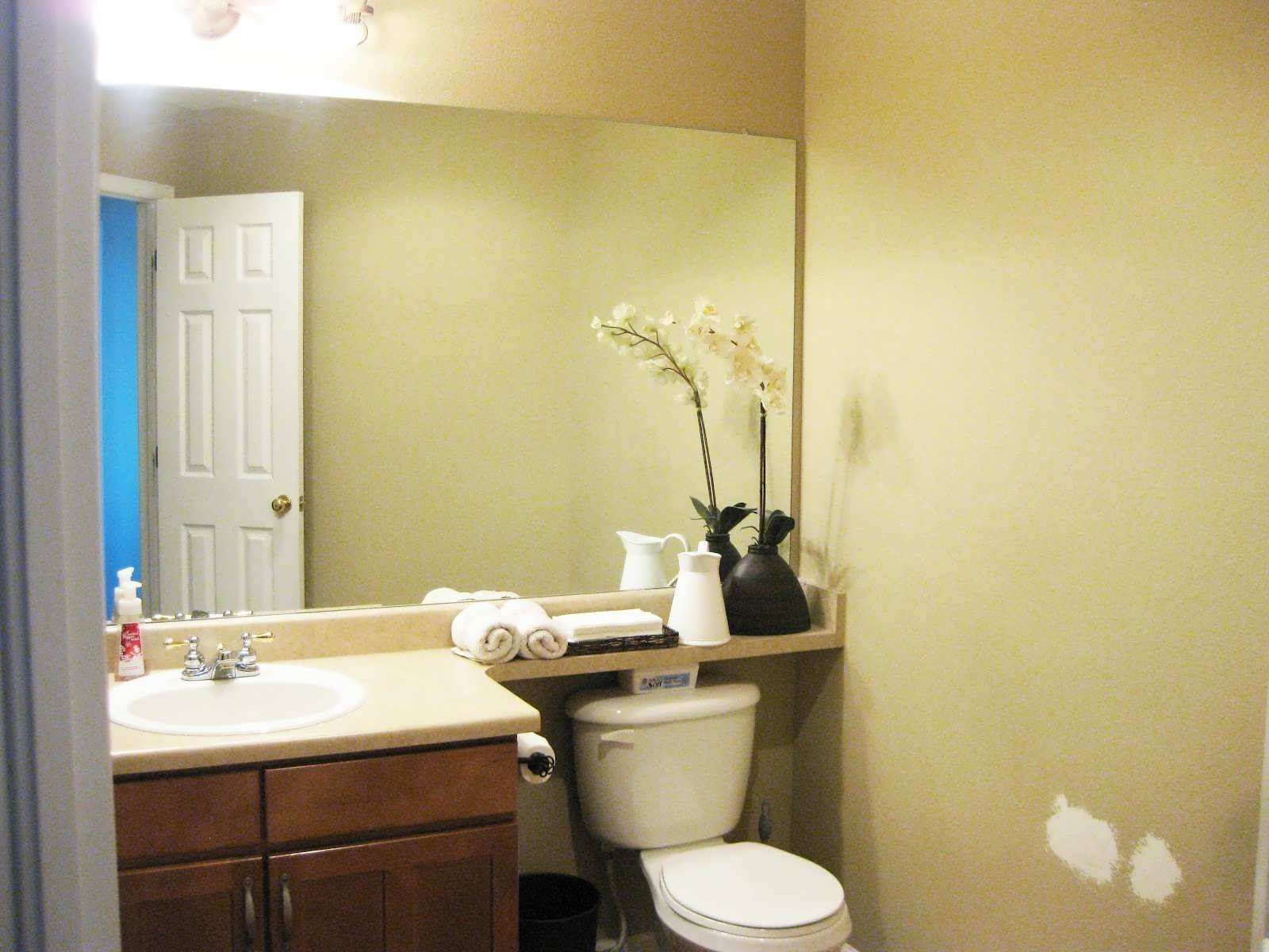 Bathroom : Large White Framed Mirror Small White Bathroom Mirror pertaining to White Oval Bathroom Mirrors (Image 4 of 25)