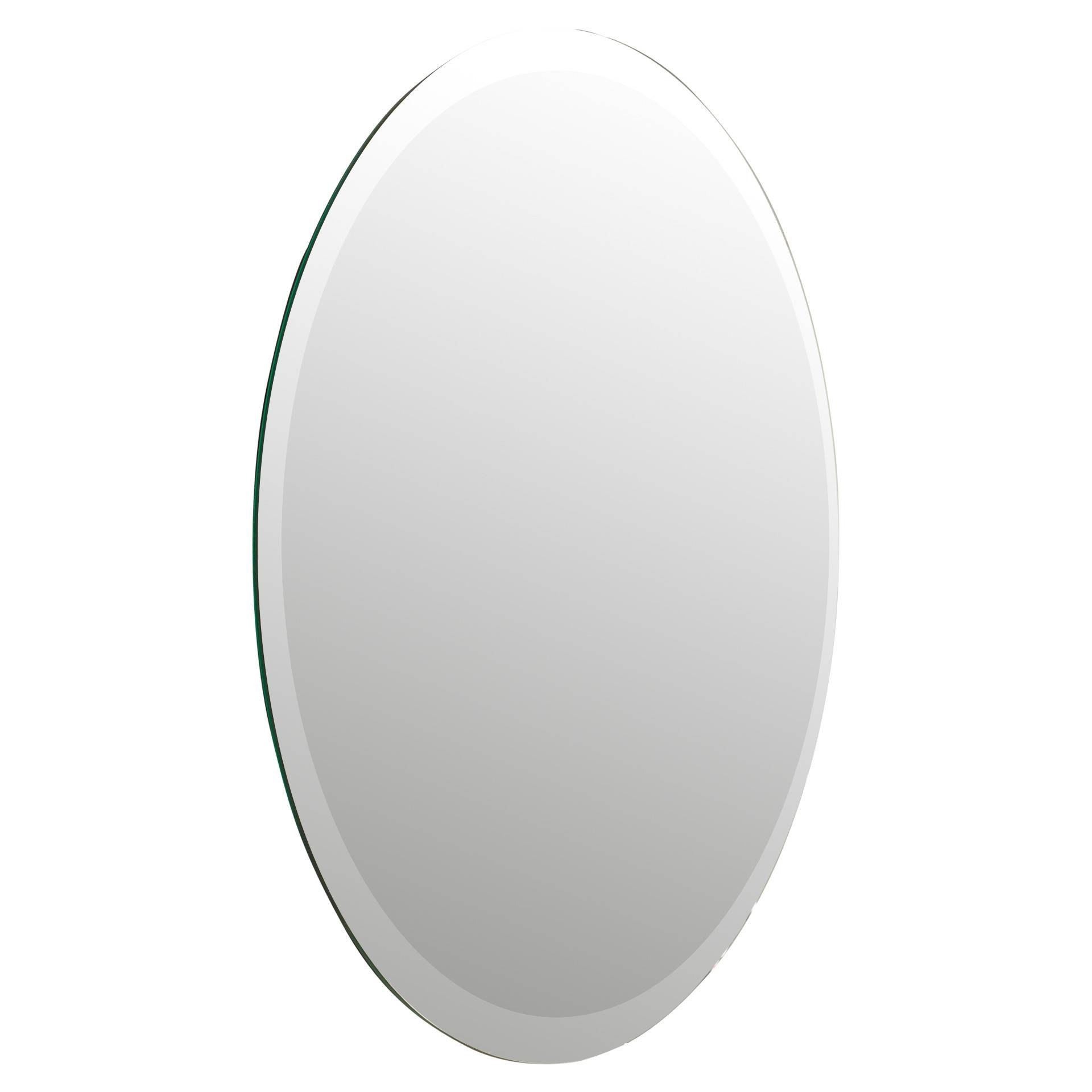 Bathroom: Light Up Your Home With Frameless Beveled Mirror for Beveled Edge Oval Mirrors (Image 5 of 25)