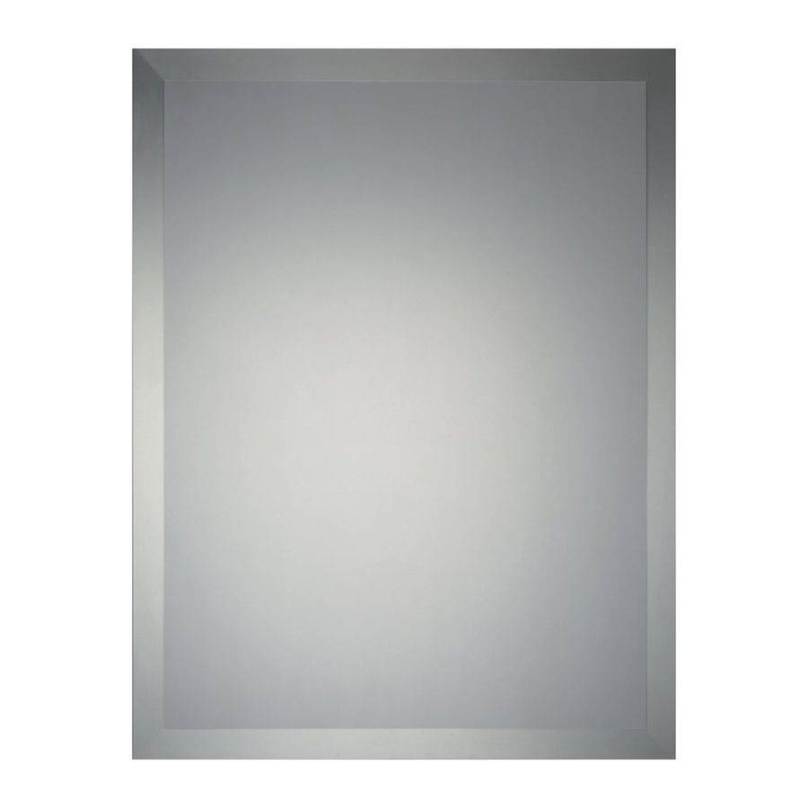Bathroom: Light Up Your Home With Frameless Beveled Mirror in Beveled Edge Oval Mirrors (Image 6 of 25)