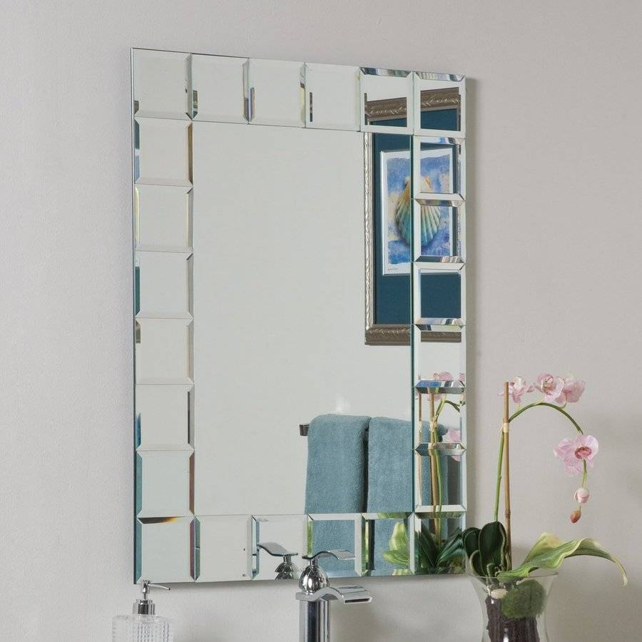 Bathroom: Light Up Your Home With Frameless Beveled Mirror pertaining to Full Length Frameless Mirrors (Image 3 of 25)