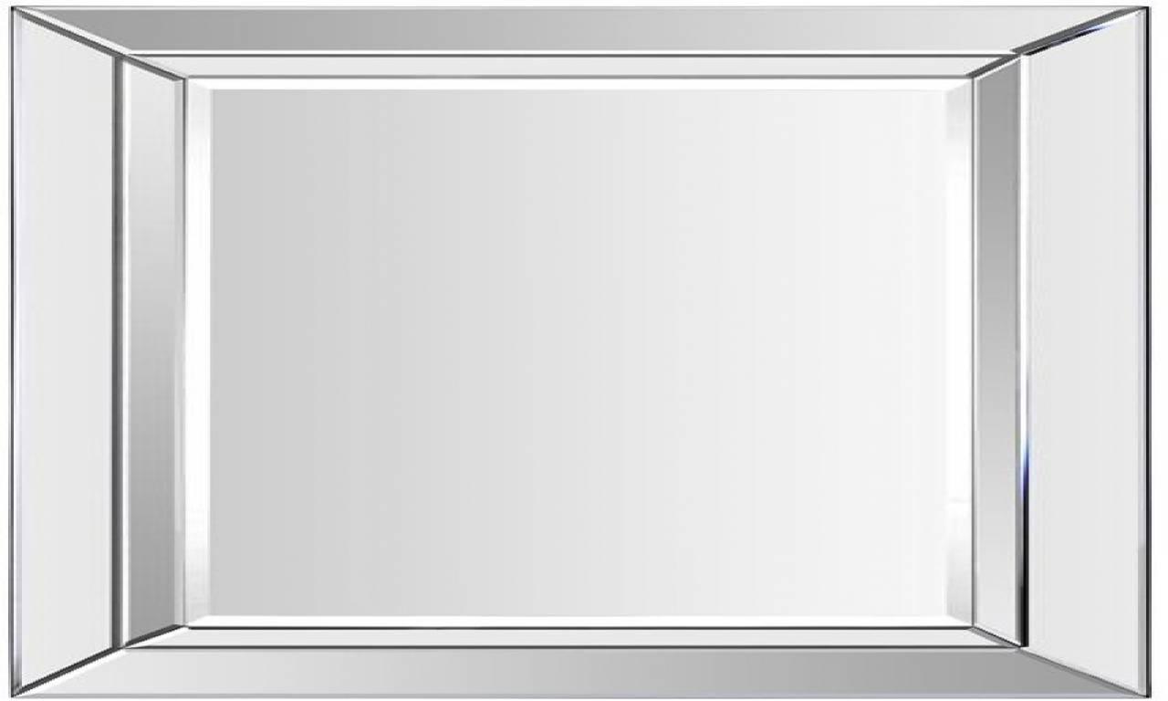 Bathroom: Light Up Your Home With Frameless Beveled Mirror regarding Frameless Large Mirrors (Image 2 of 25)