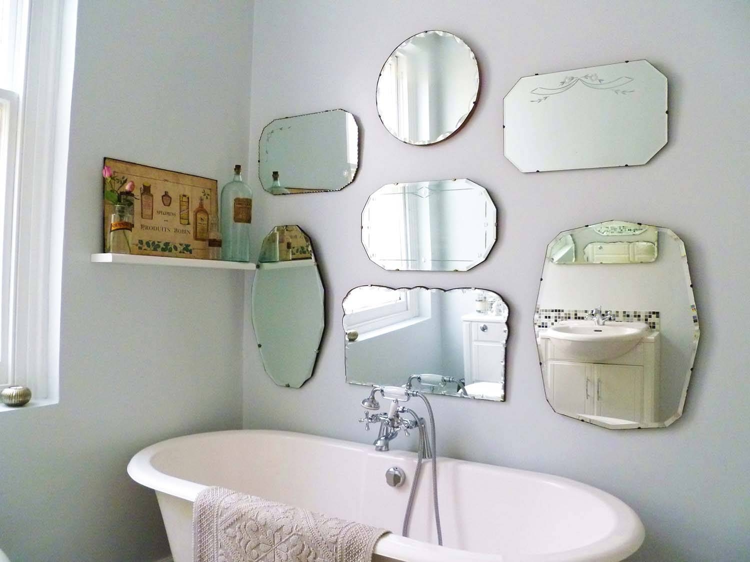 Bathroom: Light Up Your Home With Frameless Beveled Mirror Regarding Large Frameless Wall Mirrors (View 1 of 25)