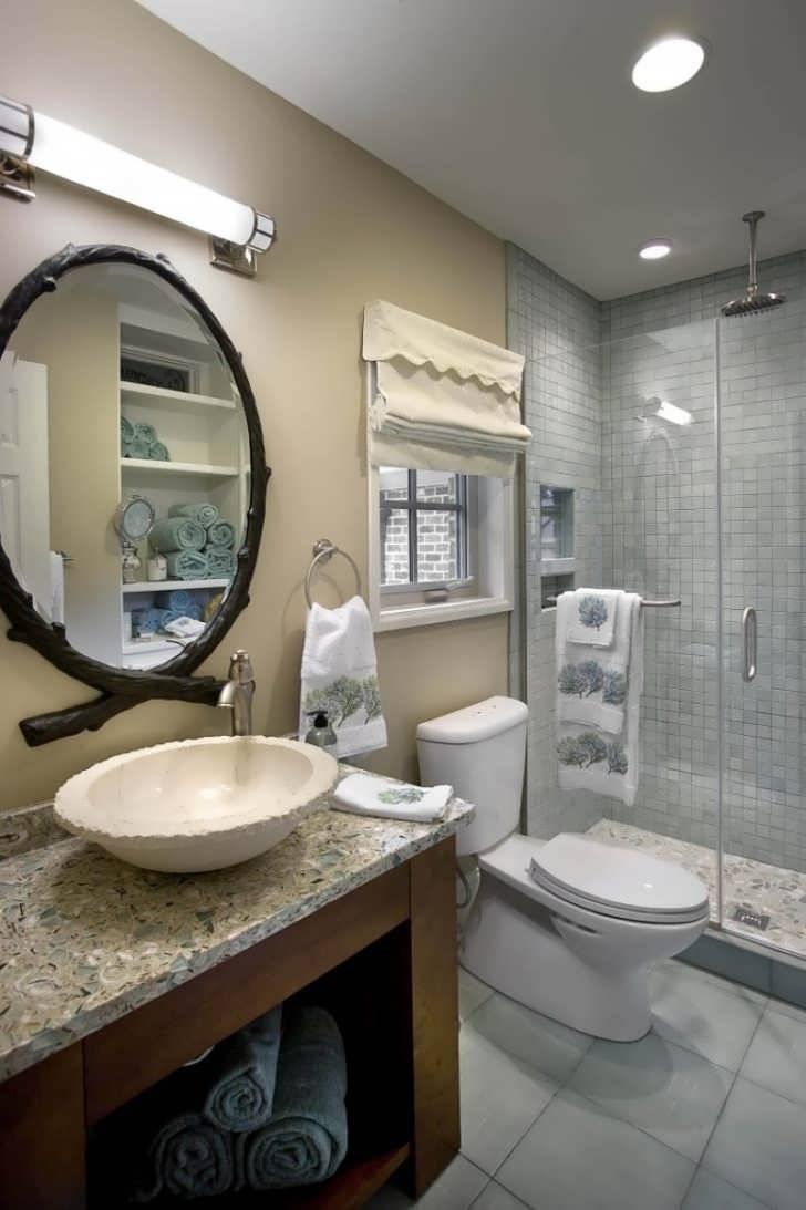 Bathroom : Long Mirror Vanity With Top And Mirror Tilting Vanity pertaining to Long Venetian Mirrors (Image 8 of 25)