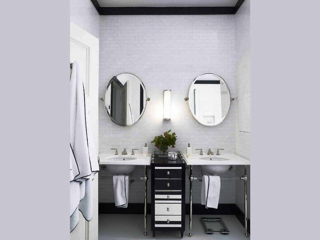 Bathroom Mirrors Brushed Nickel 45 Trendy Interior Or Deco Mirror throughout Deco Bathroom Mirrors (Image 14 of 25)