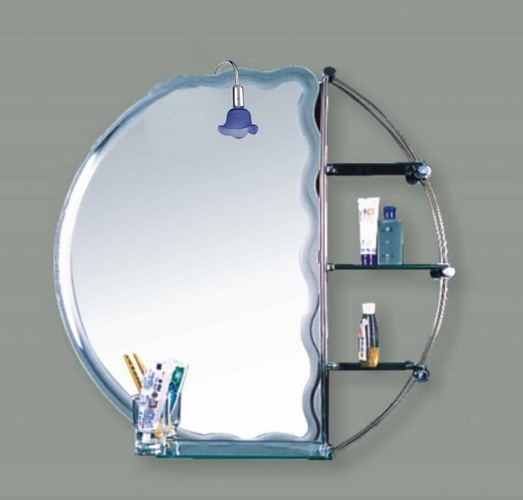 Bathroom: Mirrors For Bathrooms Ideas In Minimalist Grey Themed in Designer Round Mirrors (Image 6 of 25)