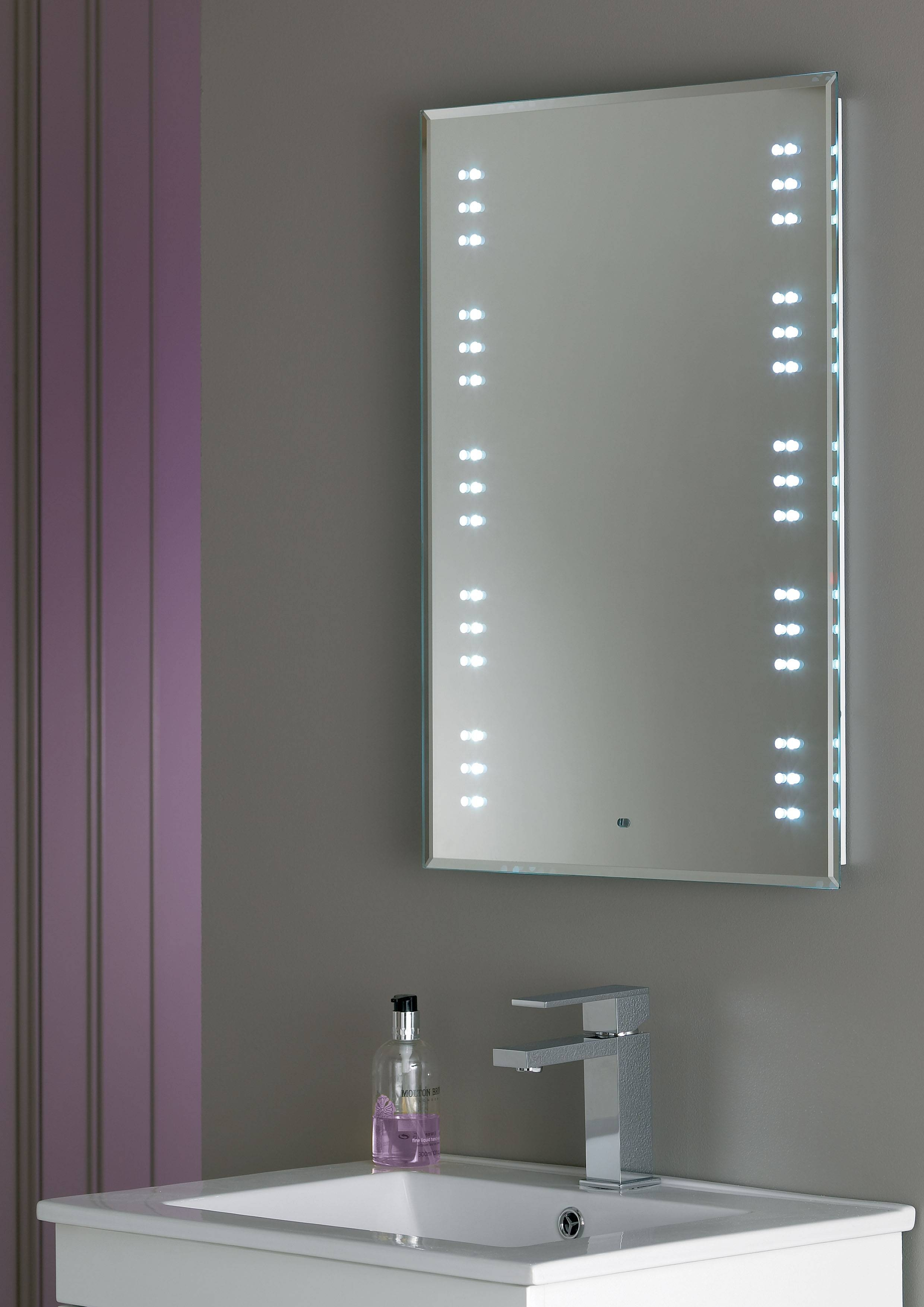 Bathroom: Mirrors For Bathrooms In White Themed Bathroom With in White Metal Mirrors (Image 3 of 25)