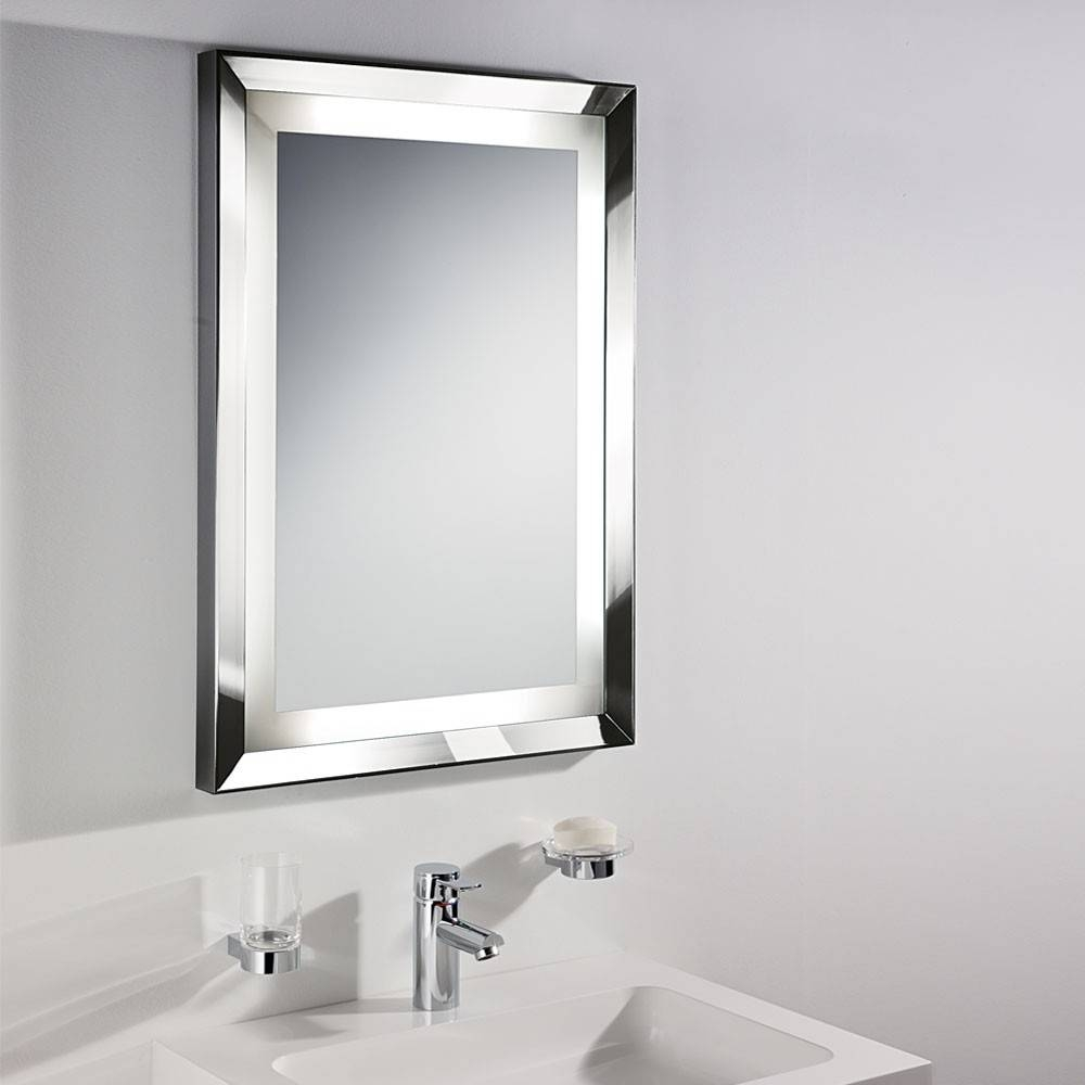 Bathroom: Mirrors For Bathrooms In White Themed Bathroom With within White Metal Mirrors (Image 4 of 25)