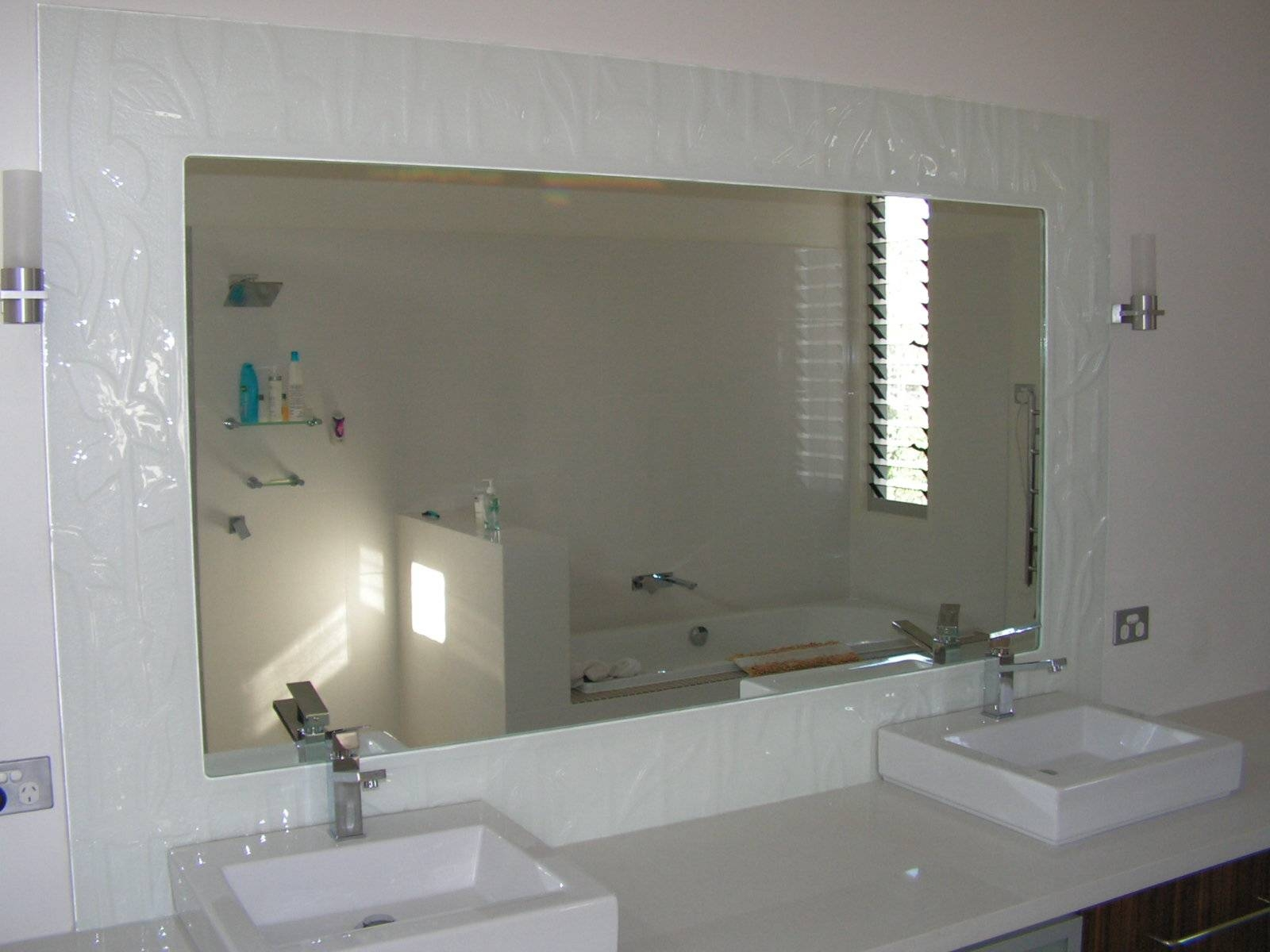 Bathroom Mirrors With No Frame | Home with Large No Frame Mirrors (Image 2 of 25)