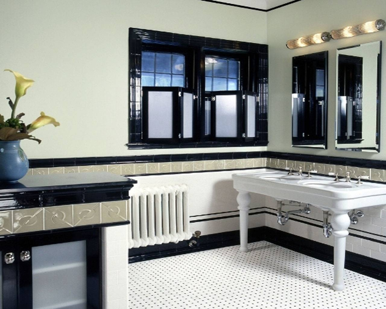 Bathroom: Modern Bathroom Art Deco Architecture Interior Small within Art Deco Style Bathroom Mirrors (Image 21 of 25)