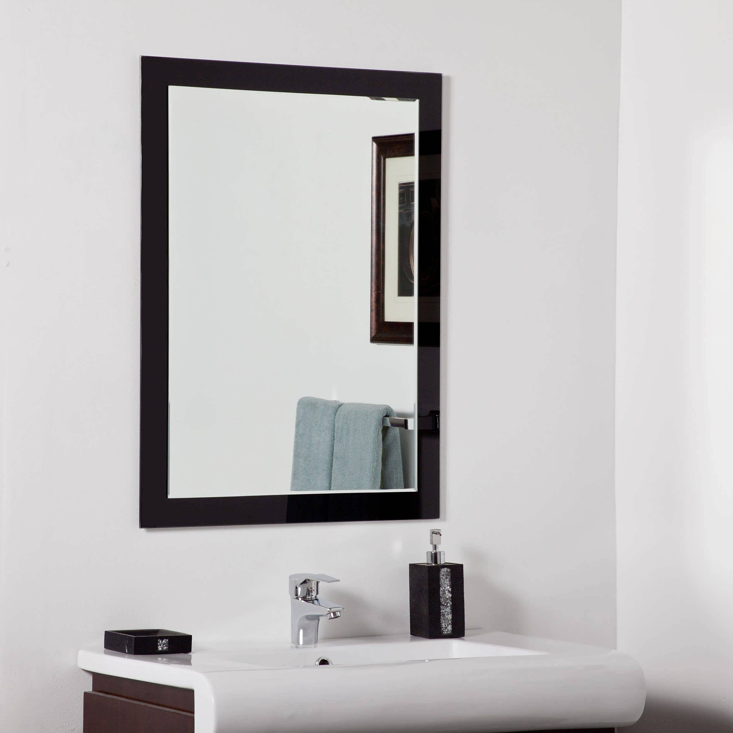 Bathroom : Modern Mirrors For Bathrooms Mirrored Vanities For within Modern Mirrors (Image 9 of 25)