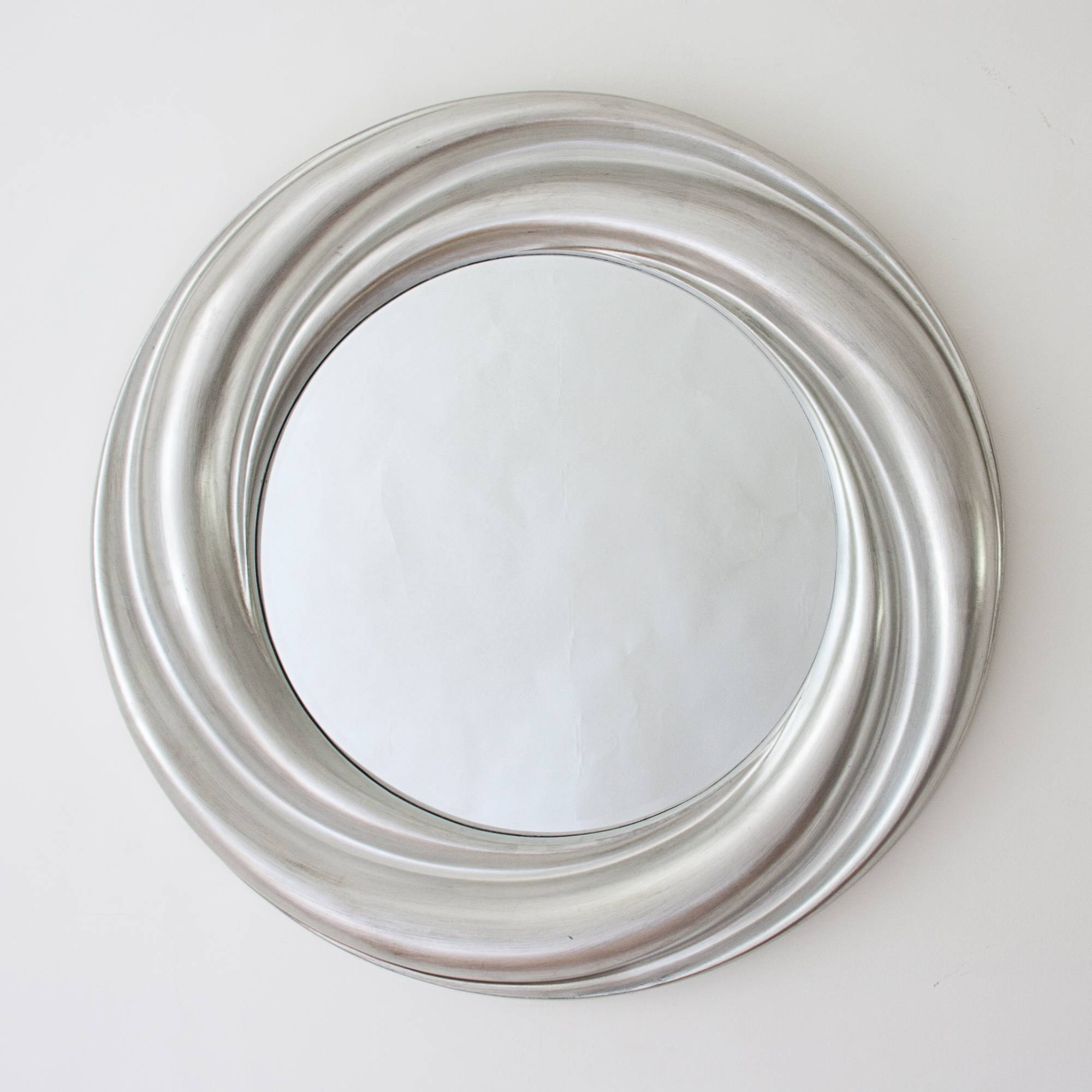 Bathroom Round Silver Mirror Pictures, Decorations, Inspiration regarding Contemporary Round Mirrors (Image 7 of 25)