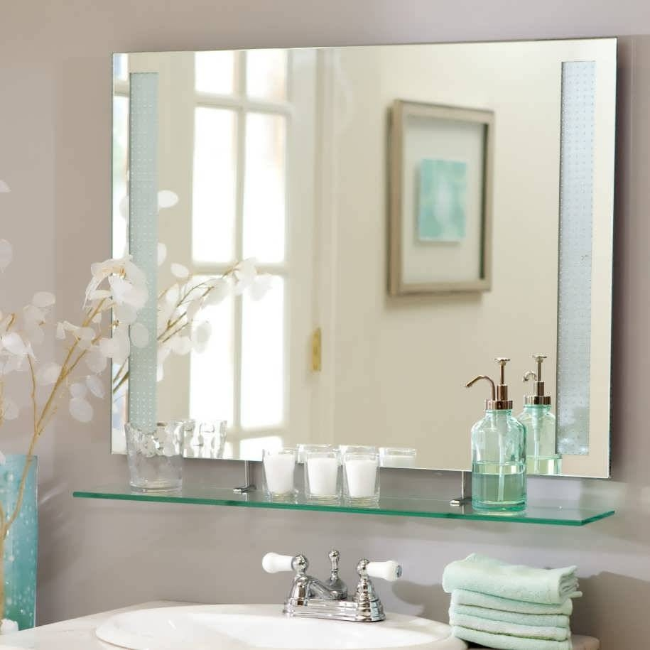 Bathroom : Simple Bathroom Mirror Arch Mirror Mirror On Mirror with Unusual Large Mirrors (Image 15 of 25)