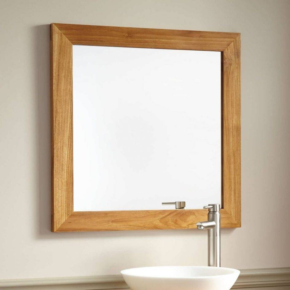 Bathroom : Vanity Mirror Lights Oak Framed Bathroom Mirrors with regard to Large Oak Framed Mirrors (Image 1 of 25)