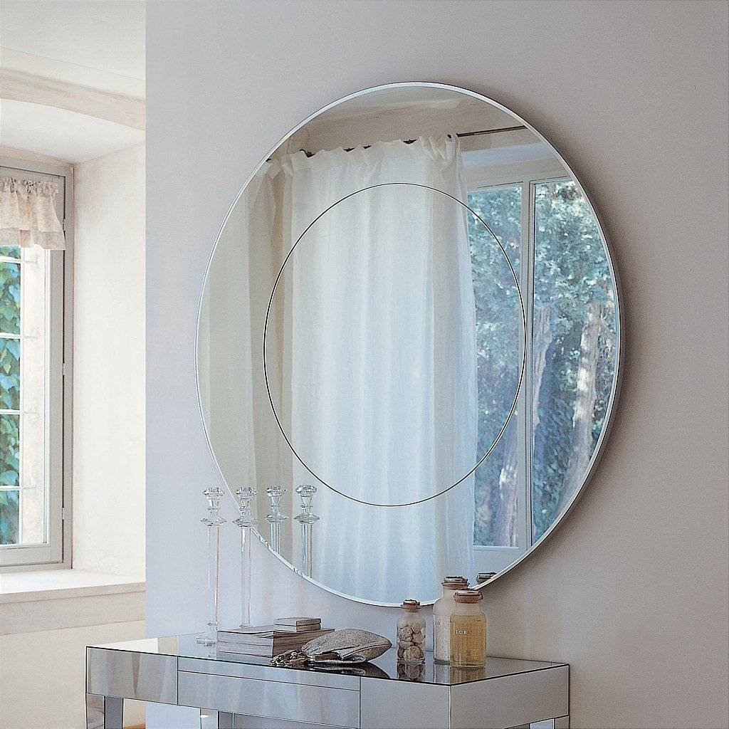 Bathroom Wall Lights Above Mirror | Bathroom Trends 2017 / 2018 with regard to Large Circle Mirrors (Image 5 of 25)