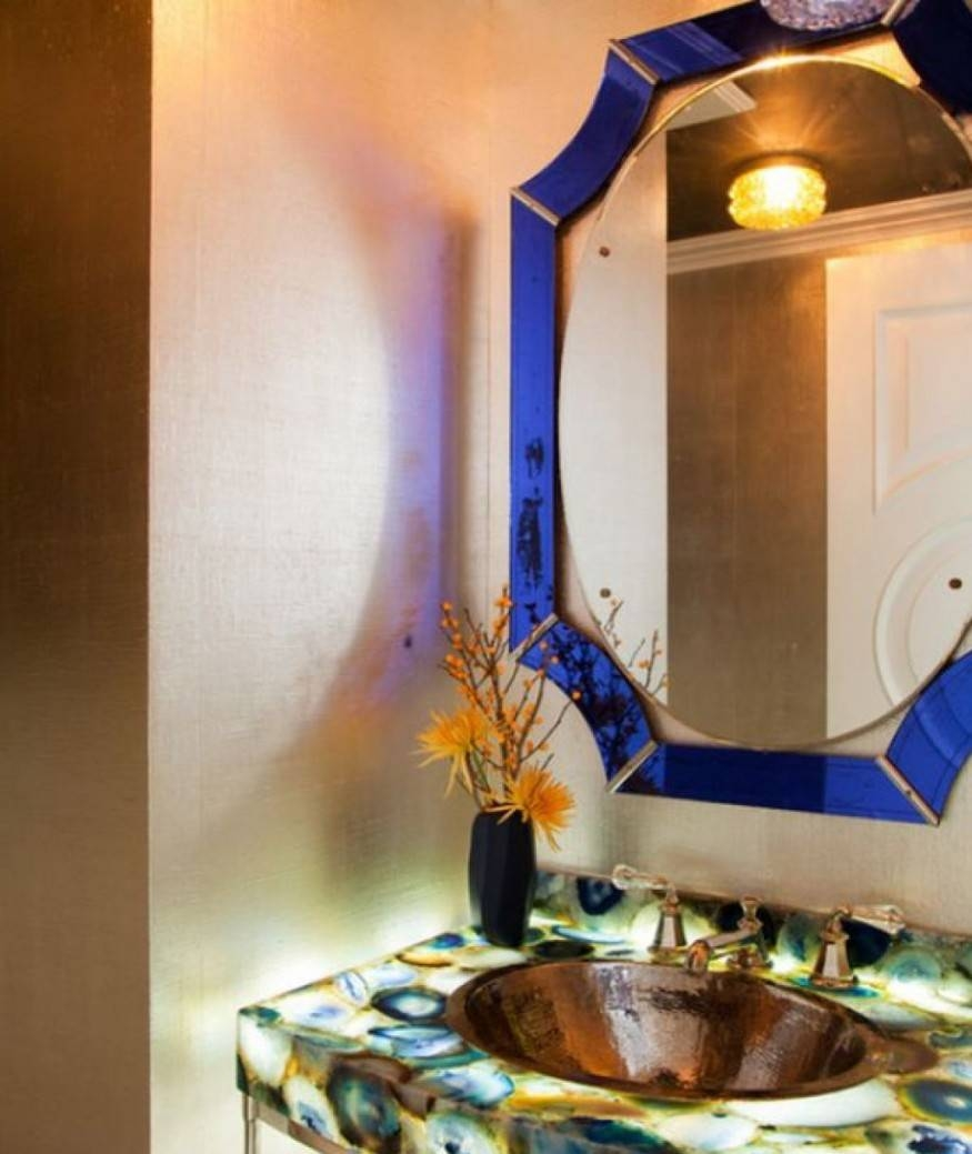 Bathroom: Why Should We Frame Bathroom Mirrors? ~ Harmony For Home with Mirrors With Blue Frame (Image 4 of 25)