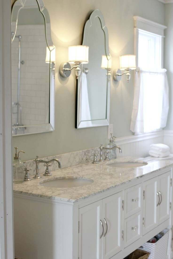Bathroom With Arched Framed Mirrors | Home Regarding Frameless Arched Mirrors (View 1 of 25)