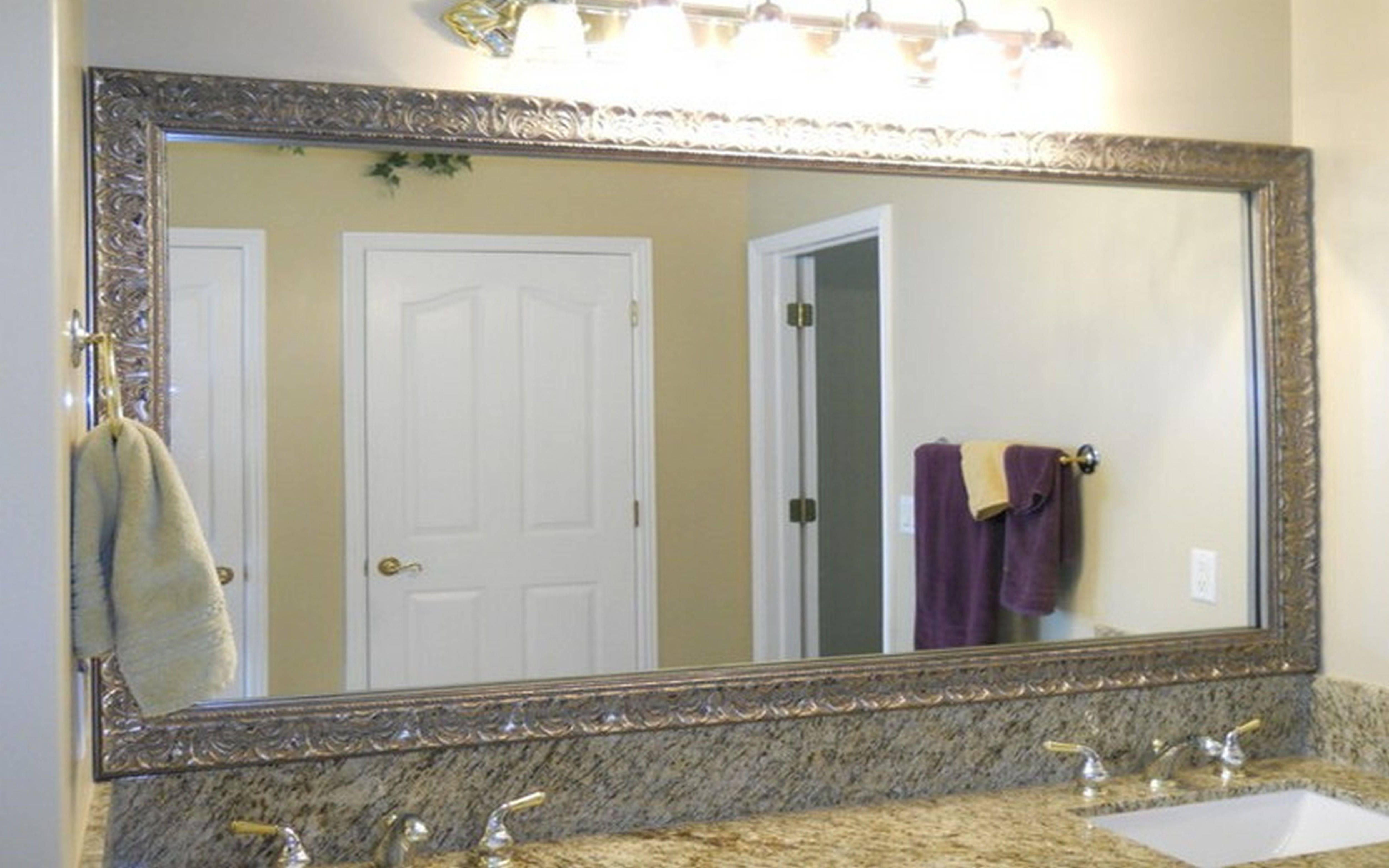 Bathroom: Wood Framed Mirrors | Large Framed Bathroom Mirrors with regard to Venetian Bathroom Mirrors (Image 11 of 25)