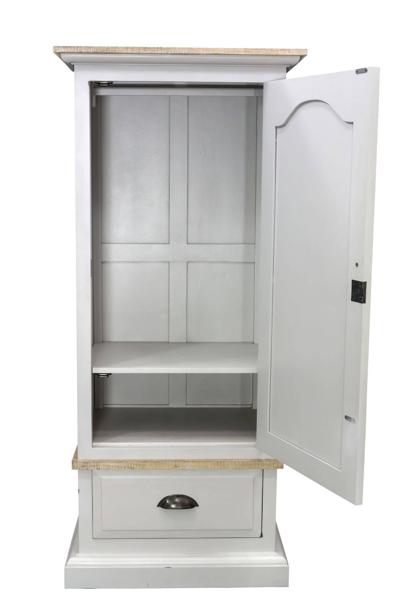 Bayou White Single Wardrobe | Hampshire Furniture for Single White Wardrobes (Image 2 of 15)