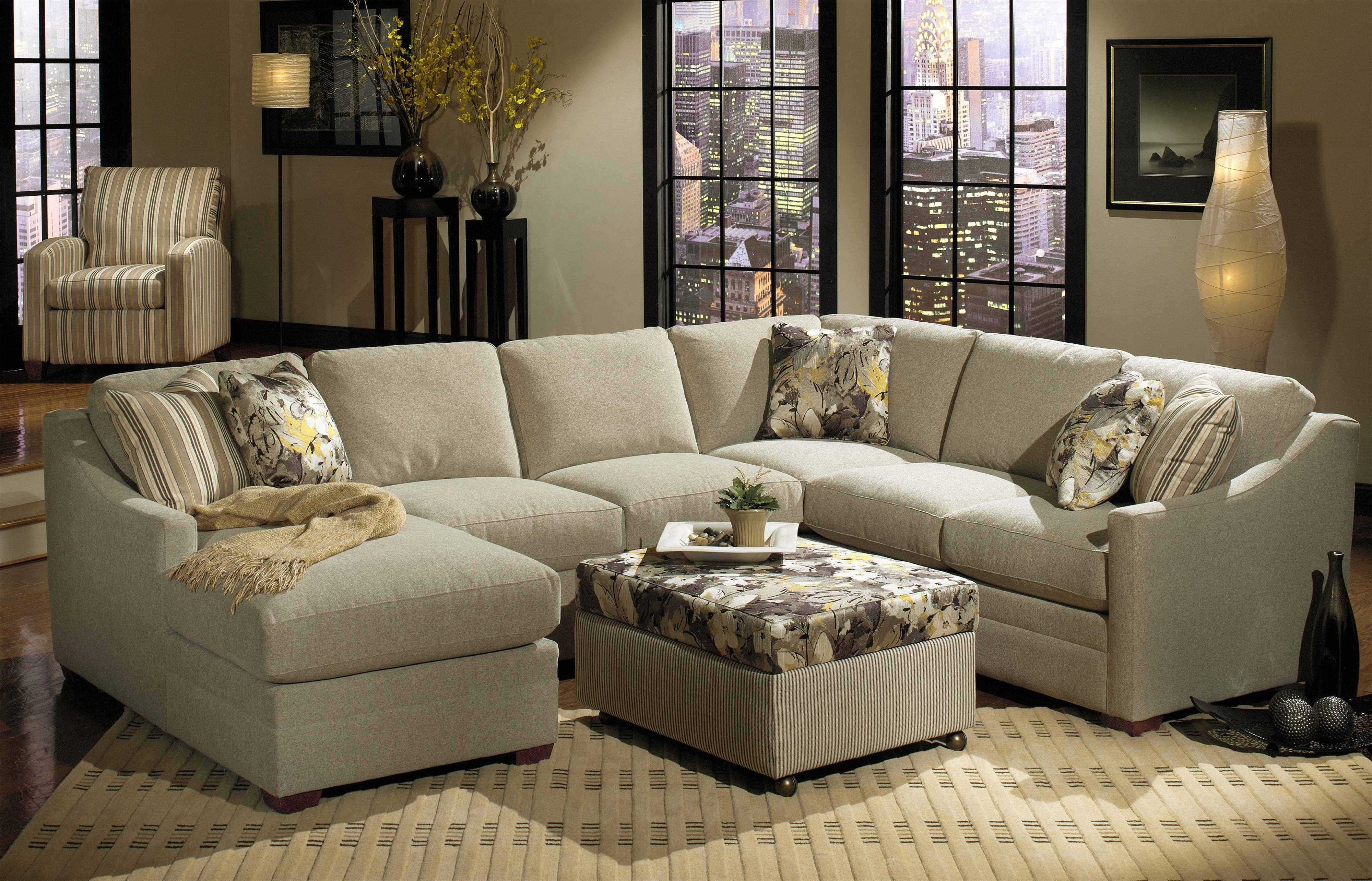 B>Customizable</b> 3-Piece Sectional With Raf Sofa W/ Return pertaining to Craftmaster Sectional Sofa (Image 2 of 30)