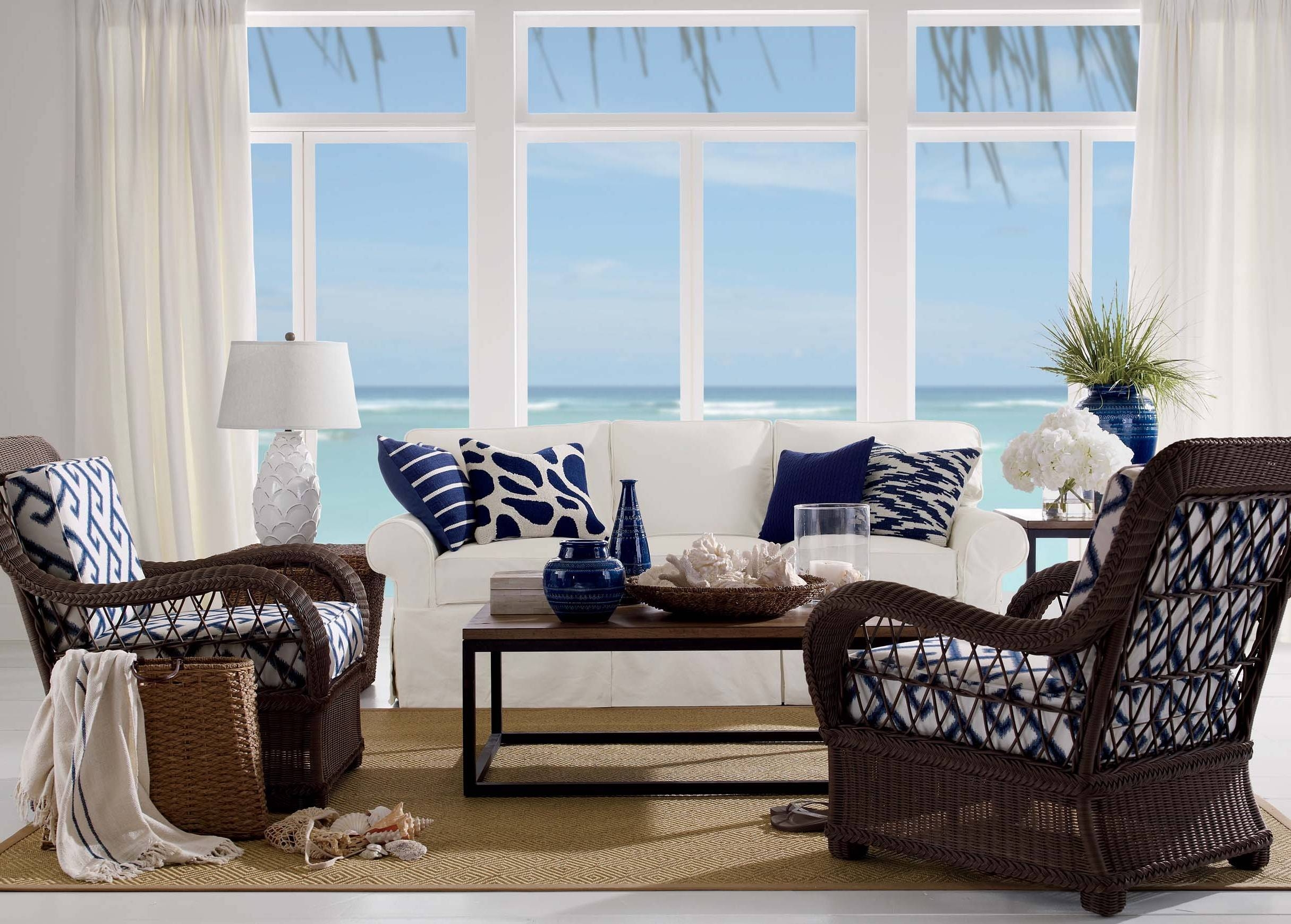 Beach Themed Coffee Table Coastal Decor-Caribbean Tv Tray-Unusual with Elephant Glass Top Coffee Tables (Image 3 of 30)