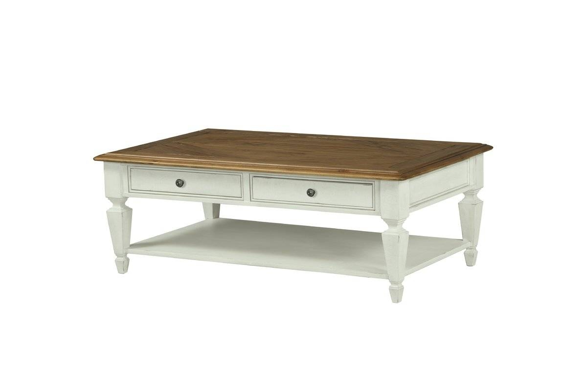Beachcrest Home Topsfield Rectangular Coffee Table & Reviews | Wayfair within Desk Coffee Tables (Image 2 of 30)