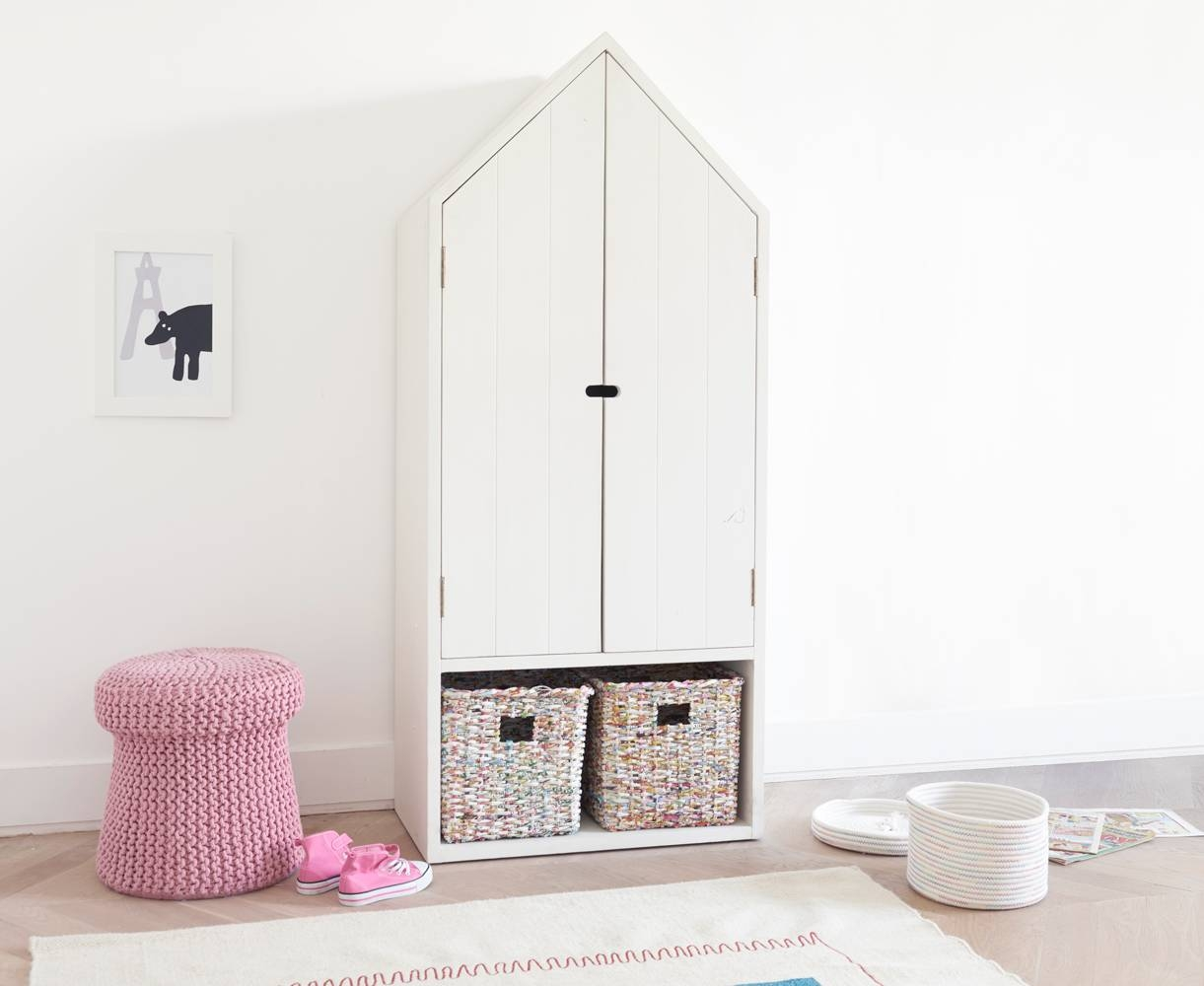 Beachy Kids' Wardrobe | Children's White Wardrobe | Loaf within Kids Wardrobes With Drawers (Image 1 of 15)