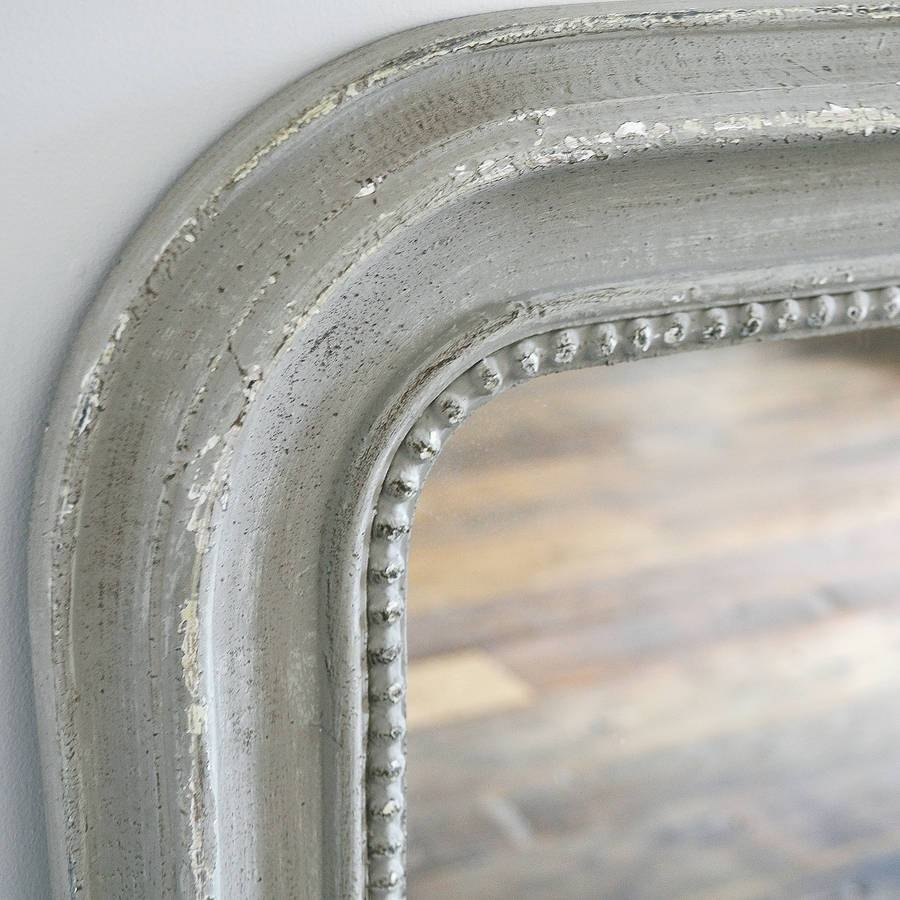 Beaded Wall Mirror White Or Greyprimrose & Plum within Cream Wall Mirrors (Image 6 of 25)