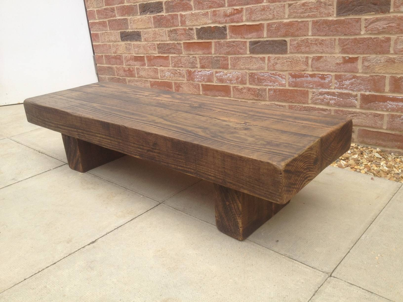 Beam Coffee Table Pertaining To Chunky Coffee Tables (View 1 of 30)