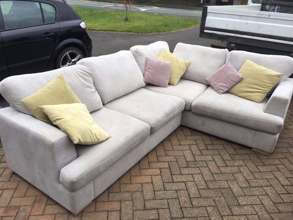 Beautiful, 2 Year Old, Dfs Freya, Left Hand, 2 Piece Corner Sofa intended for Corner Sofa And Swivel Chairs (Image 2 of 30)