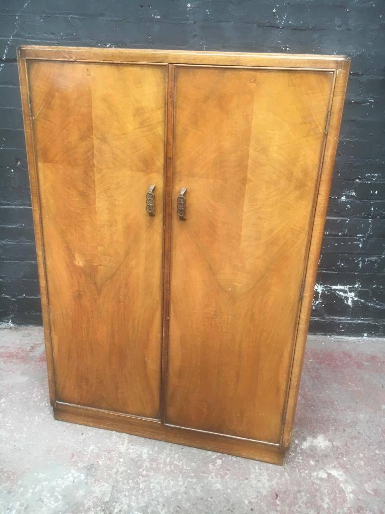 Beautiful Art Deco Style Small Wardrobe/tall Boy | In Liverpool in Small Tallboy Wardrobes (Image 2 of 15)
