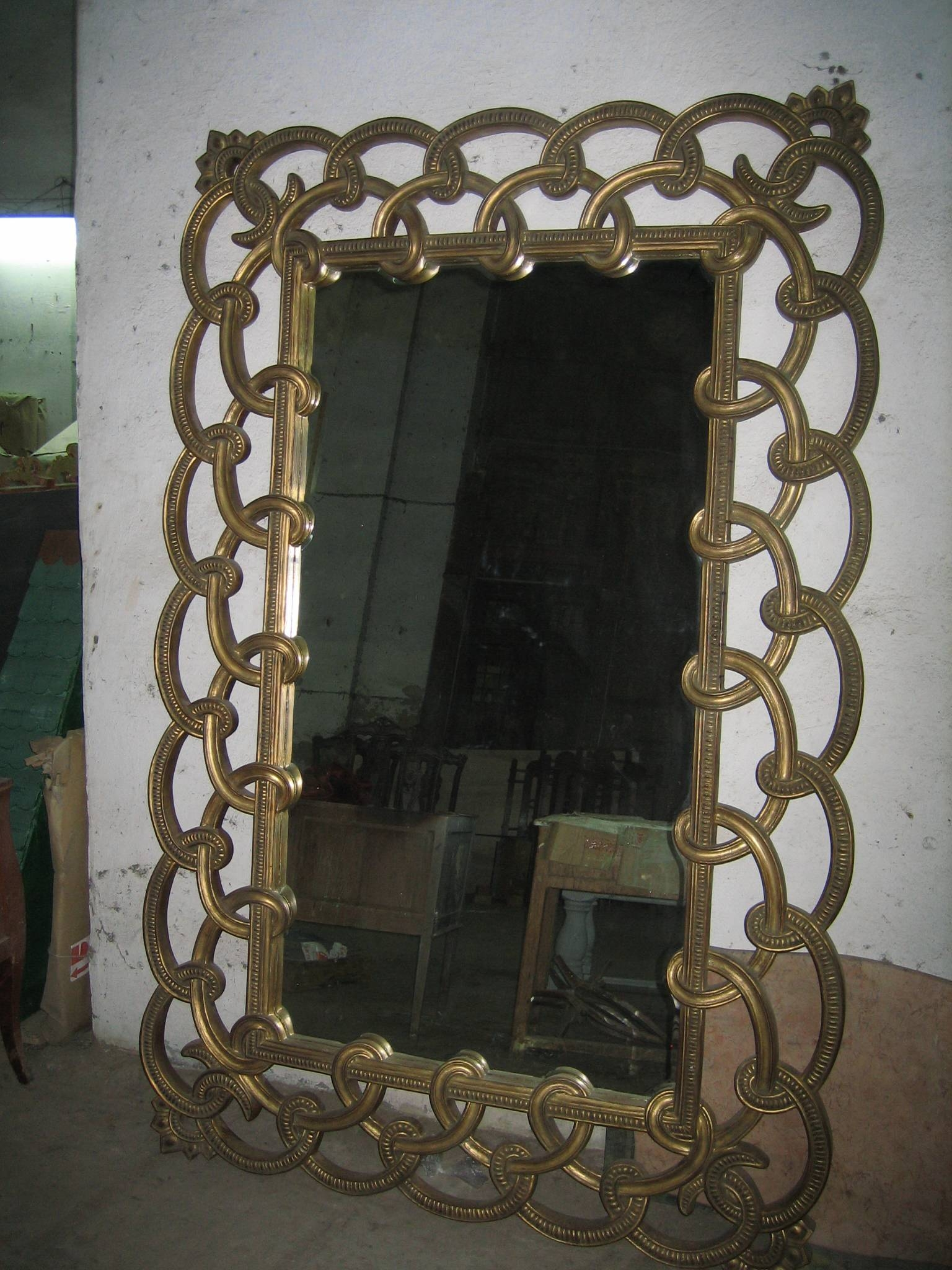 Beautiful Hand Carved French Mirror Large French Wooden Mirror with Large French Style Mirrors (Image 5 of 25)