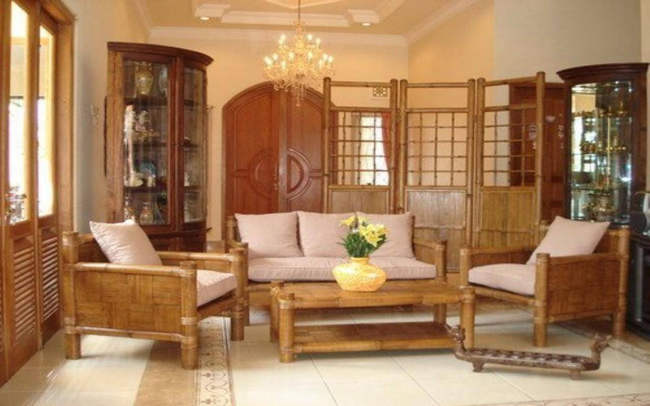 Beautiful Living Room Interior Design Ideas With Popular Bamboo with regard to Bambo Sofas (Image 18 of 30)