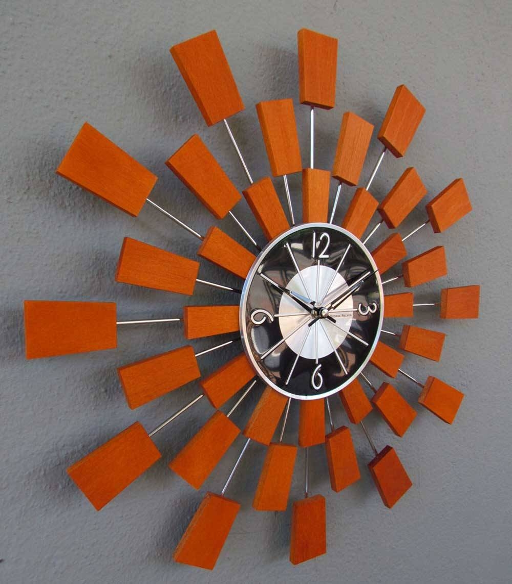 Beautiful Mirror Wall Clock 119 Mirror Wall Clocks Online India pertaining to Retro Wall Mirrors (Image 4 of 25)