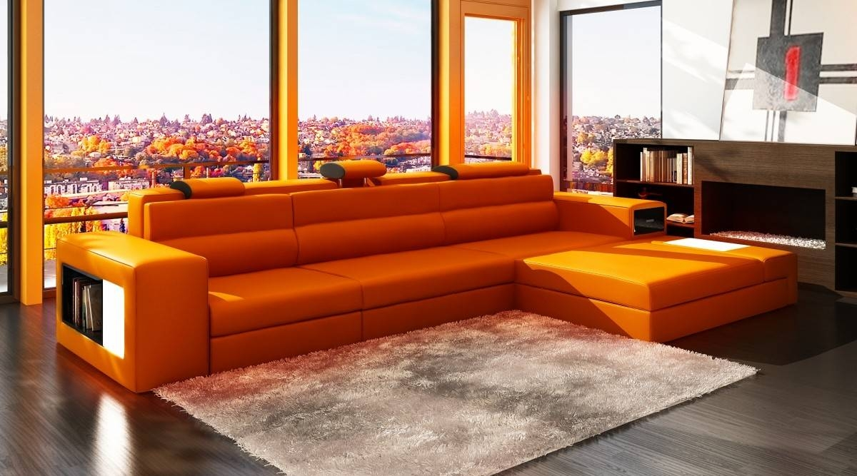 Beautiful Orange Sectional Sofa 30 In Contemporary Sofa Intended For Orange Sectional Sofa (View 5 of 30)