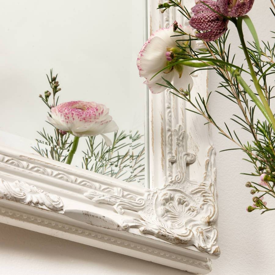 Beautifull Distressed Vintage Style Wall Mirrorhand Crafted in Vintage Wall Mirrors (Image 10 of 25)