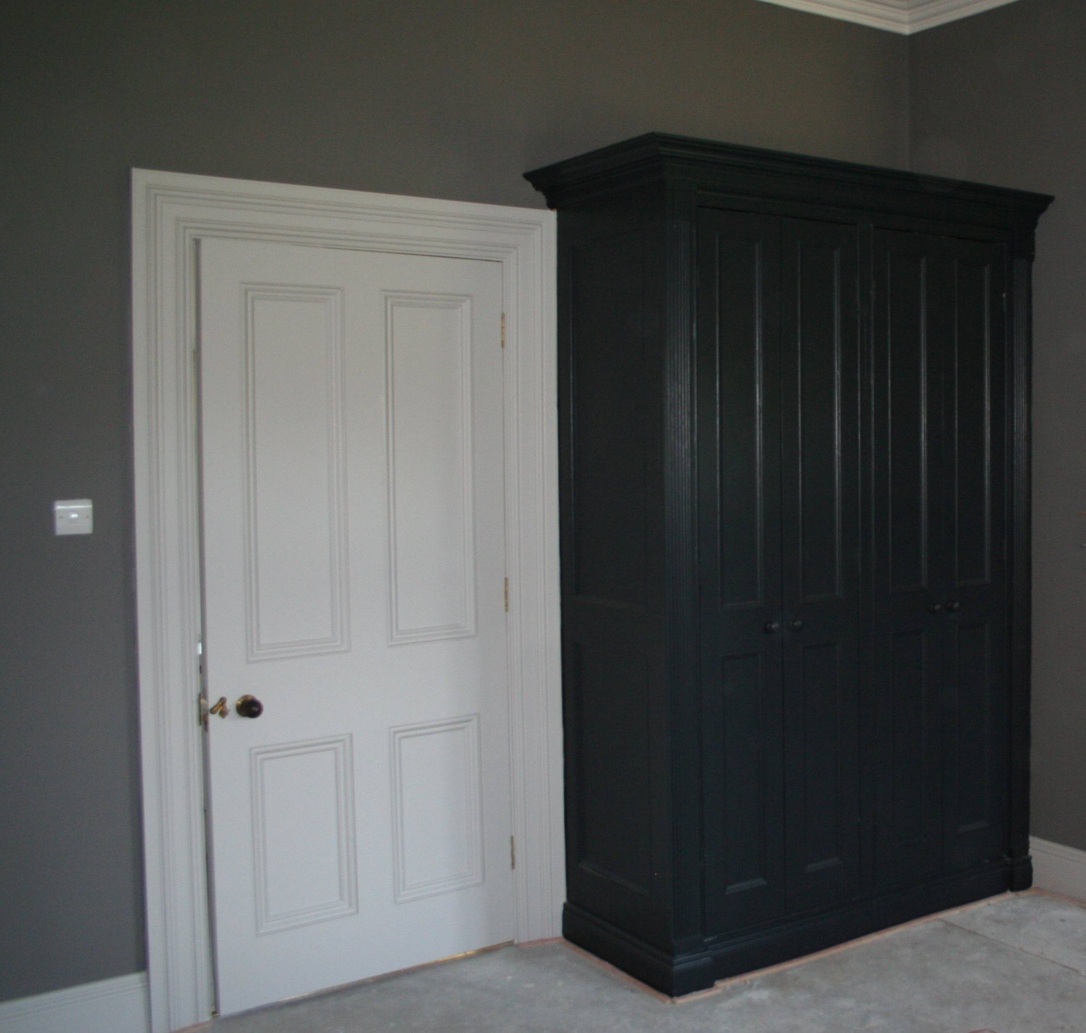 Bed Room Furniture Painting, Bespoke Furniture Painting with Farrow and Ball Painted Wardrobes (Image 1 of 15)