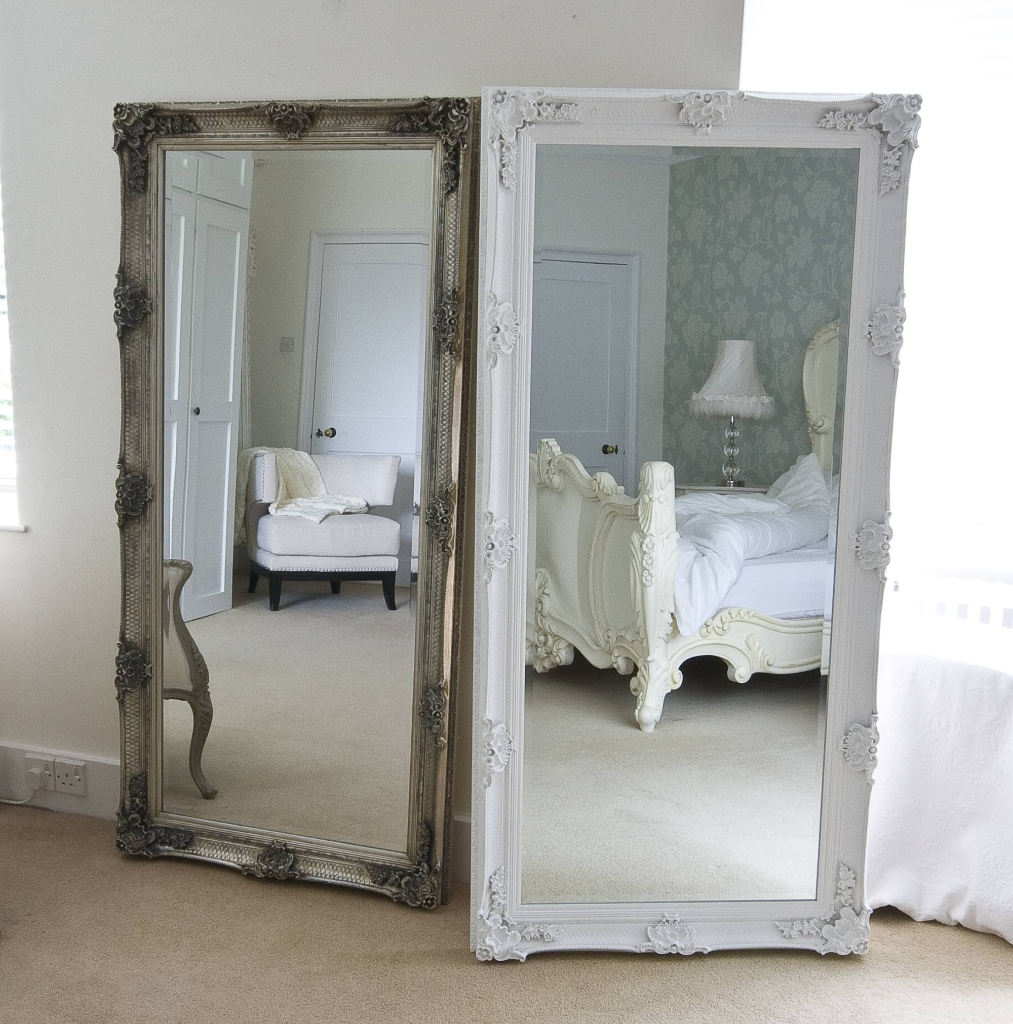 Bedroom: Appealing Oversized Mirrors For Home Decoration Ideas with Shabby Chic Full Length Mirrors (Image 8 of 25)