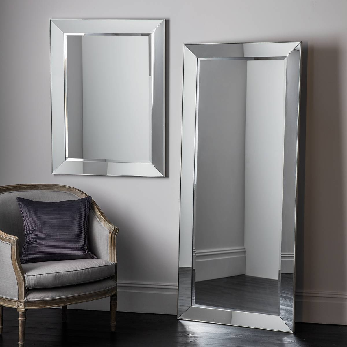 Bedroom: Appealing Oversized Mirrors For Home Decoration Ideas within Chrome Floor Mirrors (Image 3 of 25)