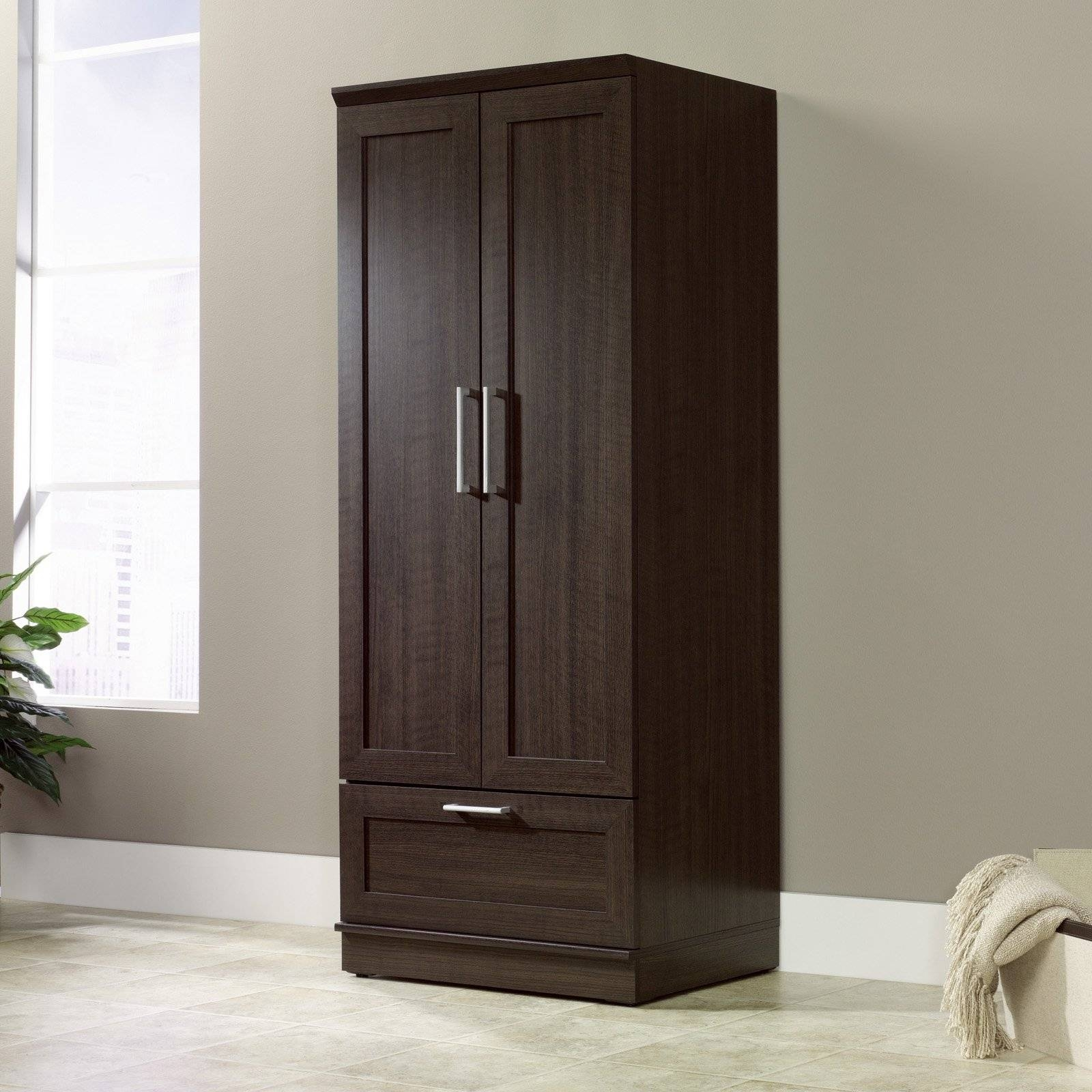 Bedroom Armoire Wardrobe pertaining to Dark Wood Wardrobe Closet (Image 5 of 30)