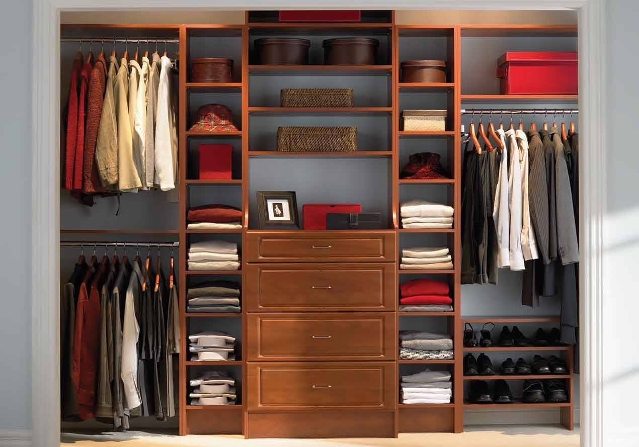 Bedroom ~ Beautiful Wood Wardrobe Clothes White Rug Dark Hardwood regarding Dark Wood Wardrobe Cheap (Image 6 of 30)