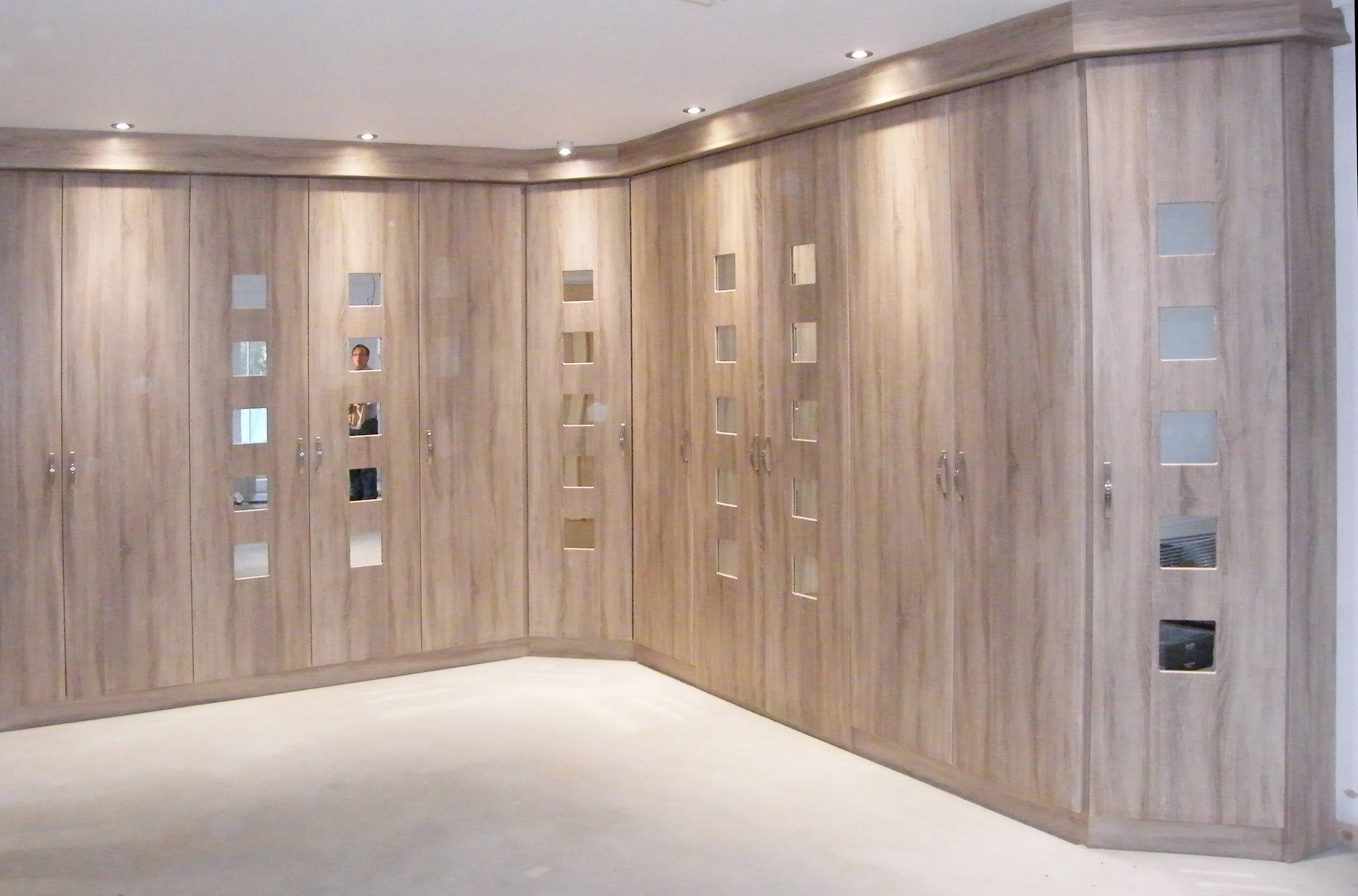 Bedroom : Bespoke Built In Fitted Wardrobe Closet Modern White With Regard  To Built In Wardrobes