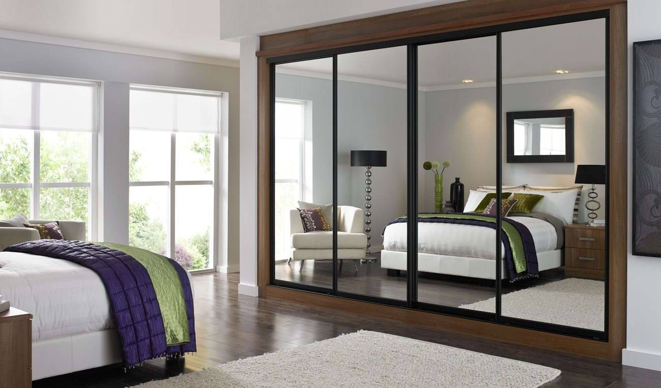 Bedroom : Bespoke Built In Fitted Wardrobe Mirrored Dark Wood for Fitted Wooden Wardrobes (Image 6 of 30)