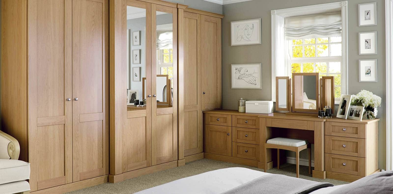 Bedroom : Bespoke Built In Fitted Wardrobe Mirrored Dark Wood Pertaining To Drawers For Fitted Wardrobes (View 14 of 30)