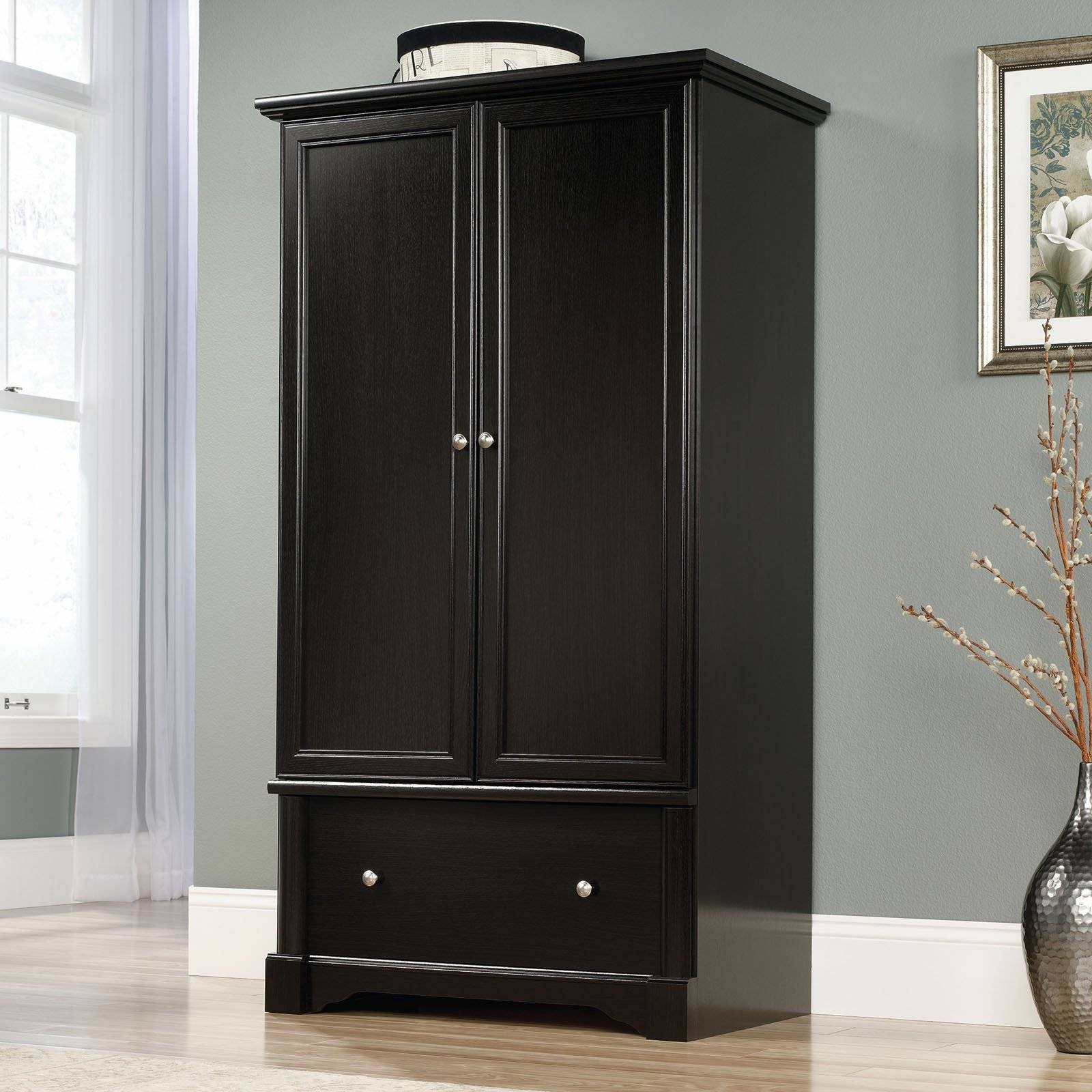Bedroom : Black Armoire Wardrobe Sale Armoire Wardrobe Single regarding Single Black Wardrobes (Image 1 of 15)