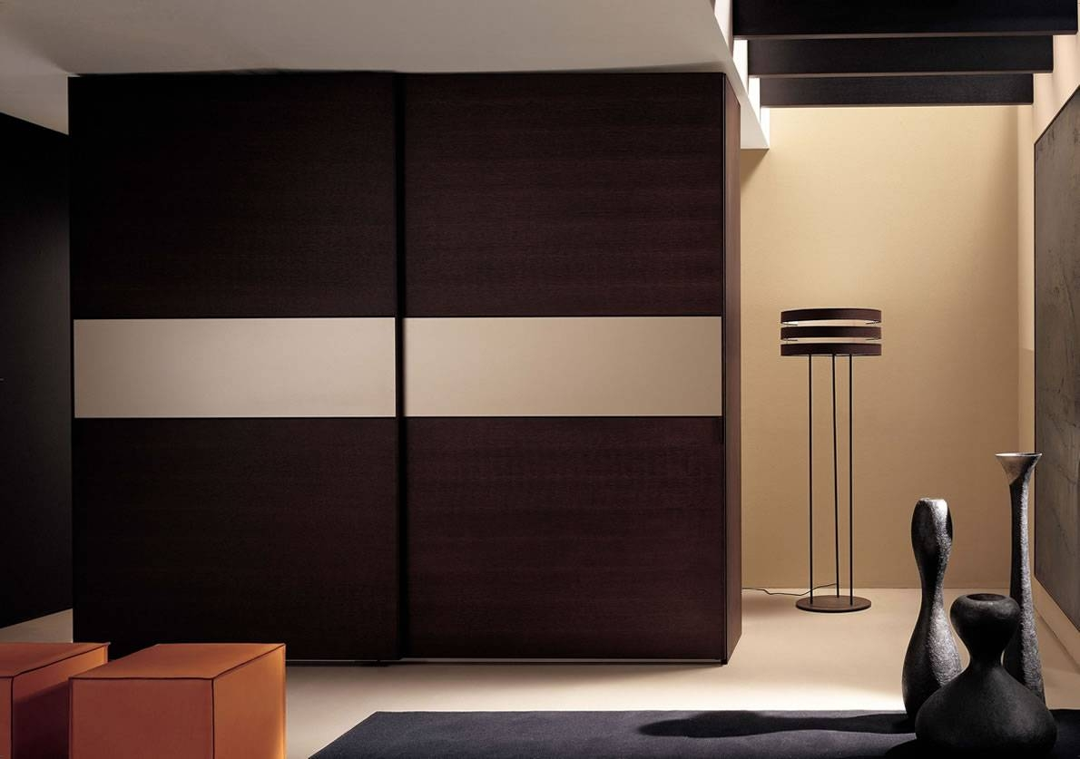 Bedroom : Cool Ultra Modern Wall Mounted Silver Wall Wardrobe Throughout Black Wood Wardrobes (View 5 of 15)