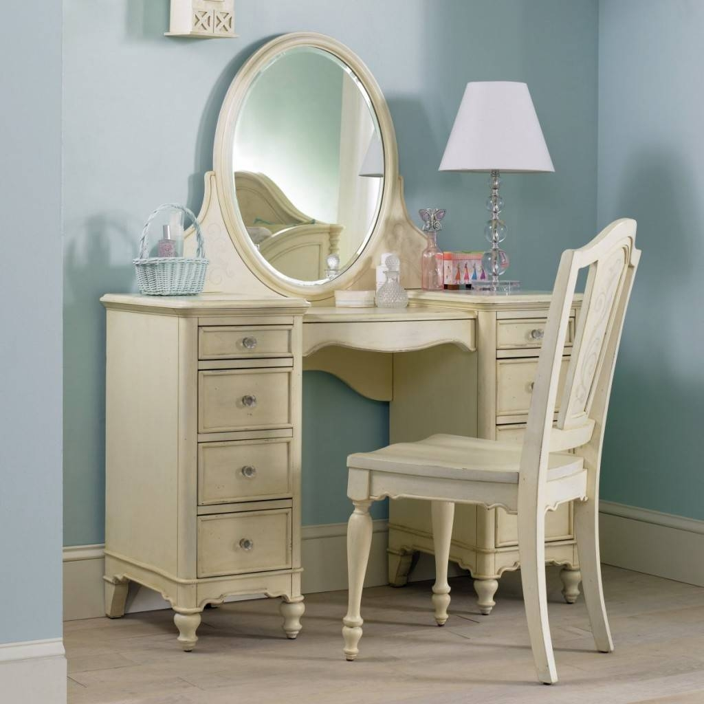 Bedroom Dressing Table Designs With Full Length Mirror For Girls in Antique Cream Mirrors (Image 7 of 25)