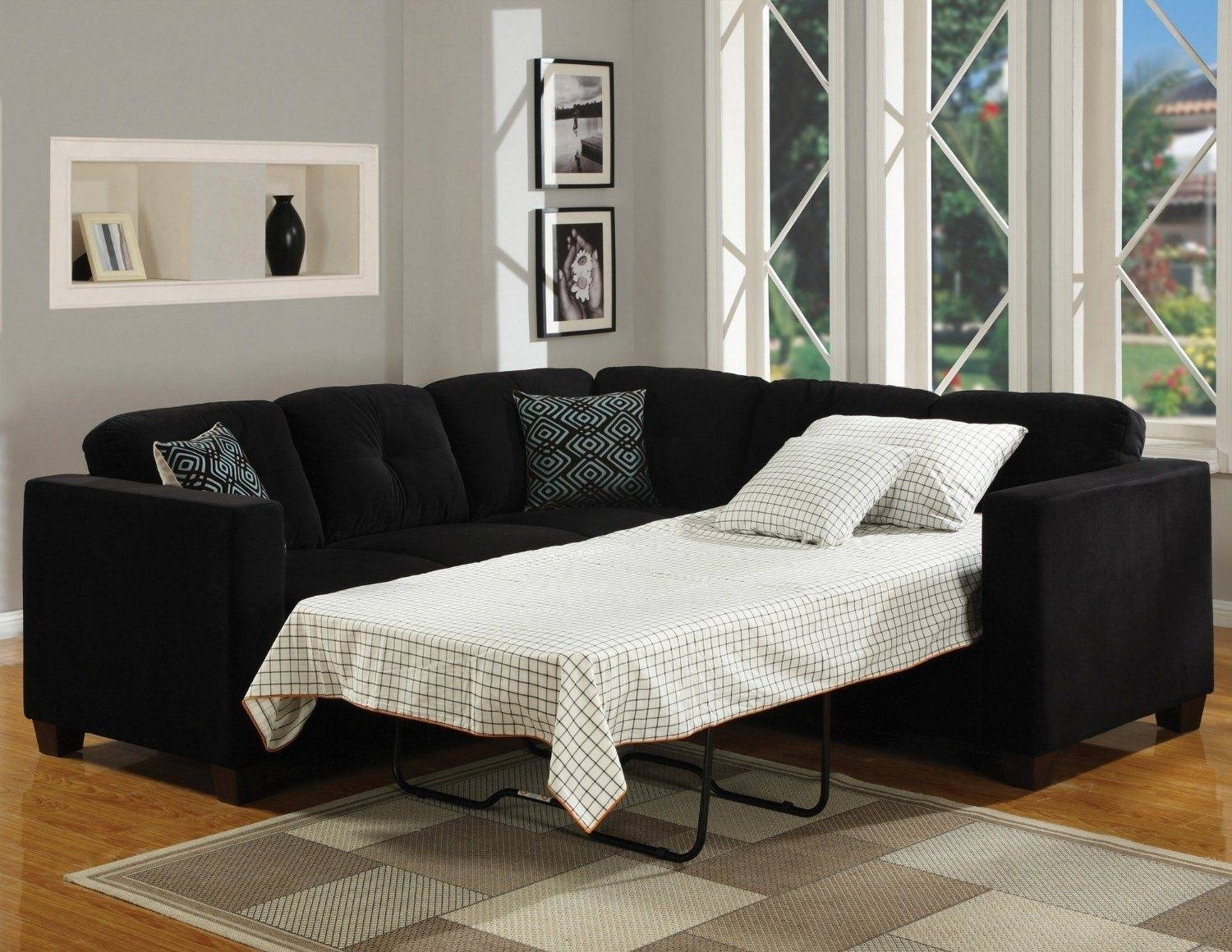 Sectional Couch With Pull Out Bed. Medium Size Of 25 Dark Grey ...